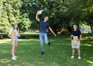 Stoke College in Suffolk celebrates GCSE success with 96% of results at 9-4 and 87% at 5-9