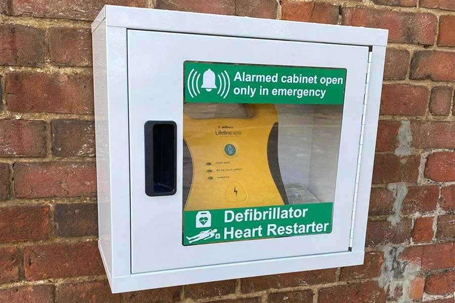 Defibrillator at Stoke College