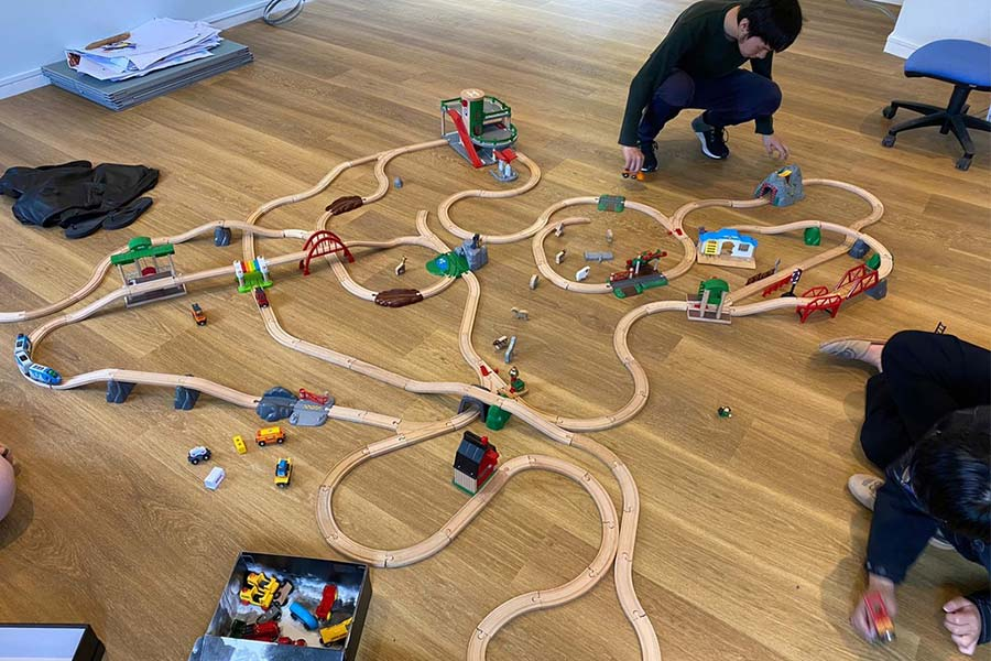 Stoke Boarders make tracks